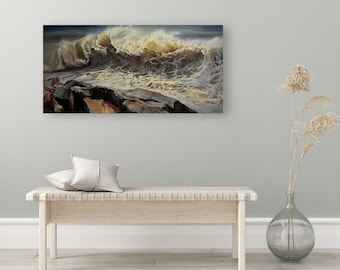 """ORIGINAL PAINTING - """"The Emperor"""", Wave Painting, Wave Artwork, Wave Gifts, Wave Decoration, Waves Wall Art, Waves Home Decor"""