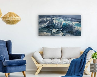 """ORIGINAL PAINTING - """"Glimpses Of Clarity"""", Wave Painting, Wave Artwork, Wave Gifts, Wave Decoration, Waves Wall Art, Waves Home Decor"""