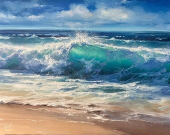 THE TURNING POINT Print, Seascape Art Canvas, Seascape Artwork, Seascape Print, Waves Poster, Seascape Home Decor, Waves Print Wall Art