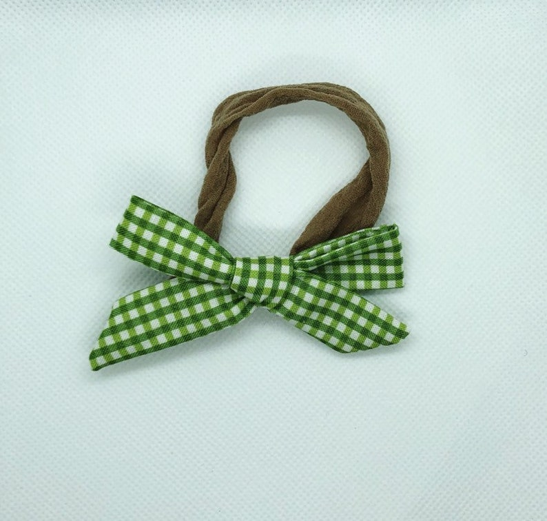 small Spring green gingham