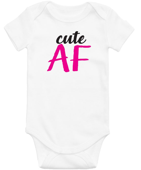 Ishkish Cute AF Infant Bodysuit New Bodysuit Latest Infant Bodysuit Funny Bodysuit