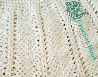 a9306c256 PATTERN - Vintage Waterlily Baby Blanket or Circular Shawl Crochet Pattern