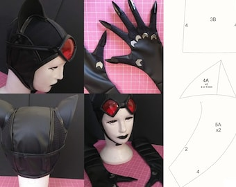 CatWoman - Gloves, Cap and Glasses (Pattern)
