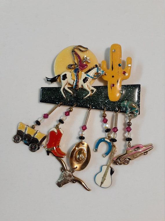 Vintage Moulin Rouge brooch