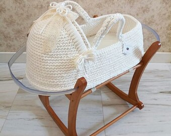 Crochet Moses Basket Etsy