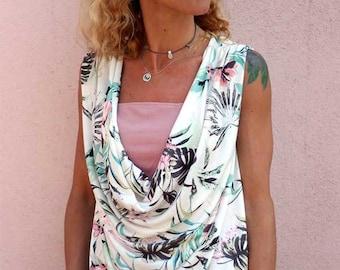 Sophia top pattern, knit top pattern, cowl top pattern, womens pattern, draped top pattern, womens top pattern, cowl neck pattern, cowl neck