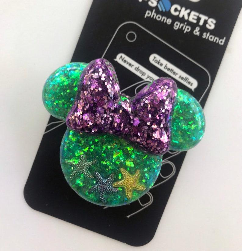 Little Mermaid inspired socket Ariel mouse head themed pop grip!