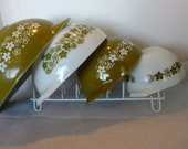 Pyrex Spring Blossom Crazy Daisy Cinderella 441-444 Bowl Set FREE Shipping