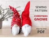 Scandinavian Gnome Sewing Pattern - Christmas Gnome Patterns - Nordic Swedish Nisse Tomte Gnomes PDF Tutorial
