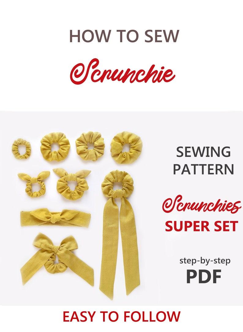 Scrunchie PATTERN PDF  How to Sew Scrunchie DIY Sewing image 0