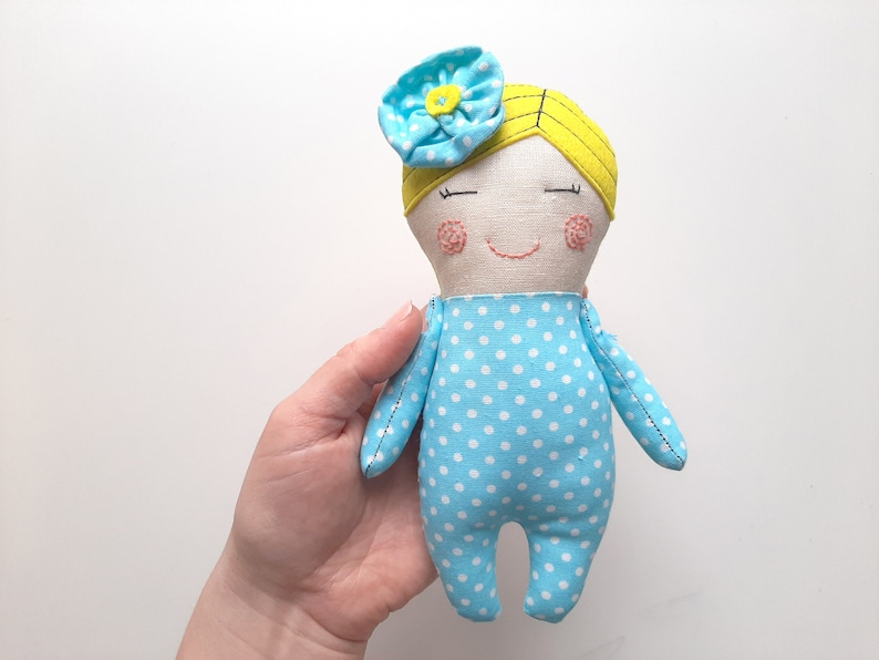 Tiny Rag Doll Pattern for Beginners Handmade Doll Pattern with Turban Cloth Doll SEWING PATTERN PDF /& Tutorial