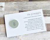 Infertility Pineapple Lucky Coin. Infertility Support Gift, IVF Support Gift. IVF Pineapple. Good Luck Charm. Fertility Treatment Gift.