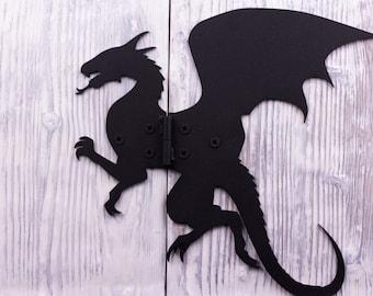 Door hinges vintage | Dragon shaped door hinges for the barn door / The Dragon