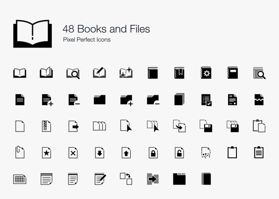 Books Files Documents Icon Pictogram Sign Symbol Set Bundle In Vector Eps Png Svg Book Icon Book Symbol Book Vector Book Svg Book Png