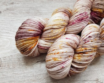 MCN - Little Gold Nuggets - Handdyed Yarn Knitting Crochet 80/10/10 Merino/Cashmere/Nylon