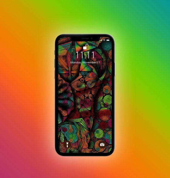 Abstract Zen Iphone Xxsmax Lockscreen