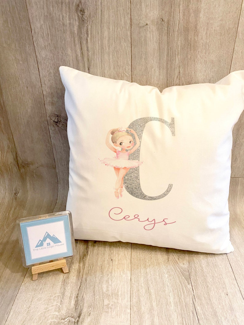 Ballerina Cushion Personalised Dance Pillow