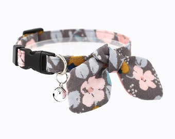 cat collar - breakaway cat collar with bunny ear bow tie and bell - miionz dreamy