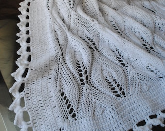 hand made crotchet Shawl//blanket for baby//reborn Romany gift//Christmas Gift.