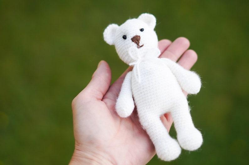 Newborn Baby Girl Boy Bear Toy Photography Prop Photo Crochet Knit Photoshooting