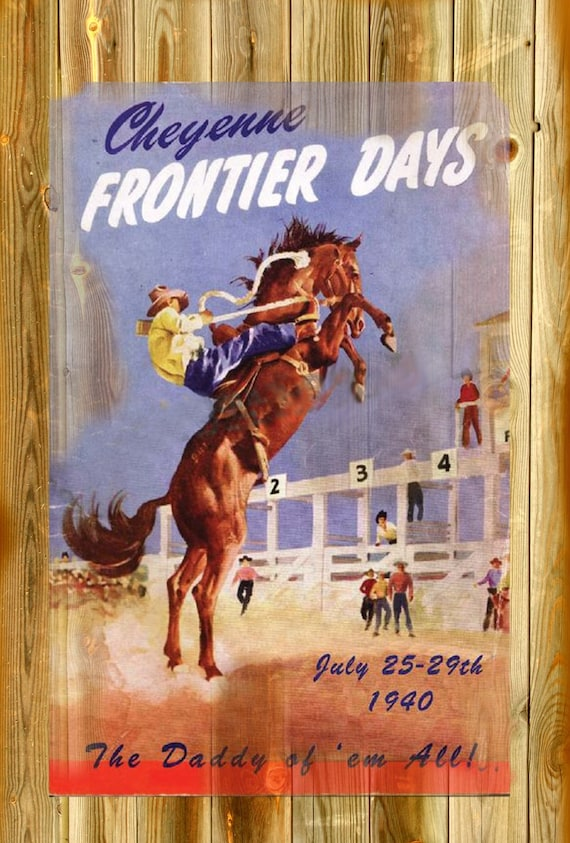 20x30 Days of the Golden West Rodeo 1930s Vintage Style Rodeo Poster