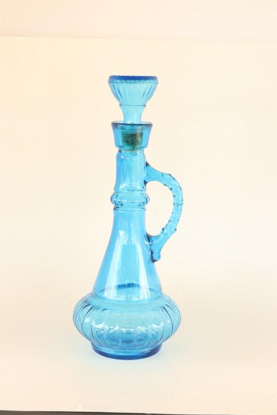 Blue Decanter Vintage Jim Beam Blue Bottle Blue I Dream Of Etsy