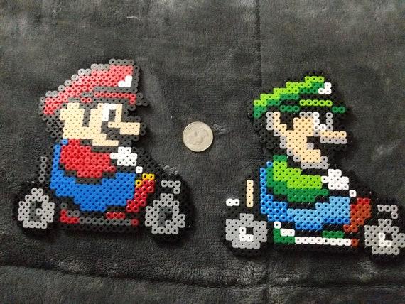Mario Kart Perler Beads Mario Luigi Peach Donkey Kong Bowser Yoshi Toad Koopa Pixel Art Beads