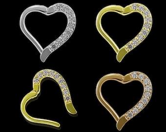 UK Seller Galaxy Spaceship Star Moon Daith Heart Surgical Steel Seam Ring Daith Piercings Ear