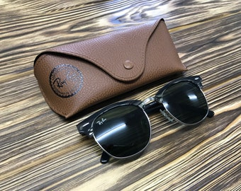 9a81428d9b classic Vintage Ray-Ban Sunglasses Clubmaster 3016-5255 RB gifts for women  men friends boyfriend girl wife parents dad her him 21st birthday