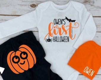 Halloween 2018 milestone My 1st Halloween Onesie Babys First Halloween First Halloween Outfit Sale