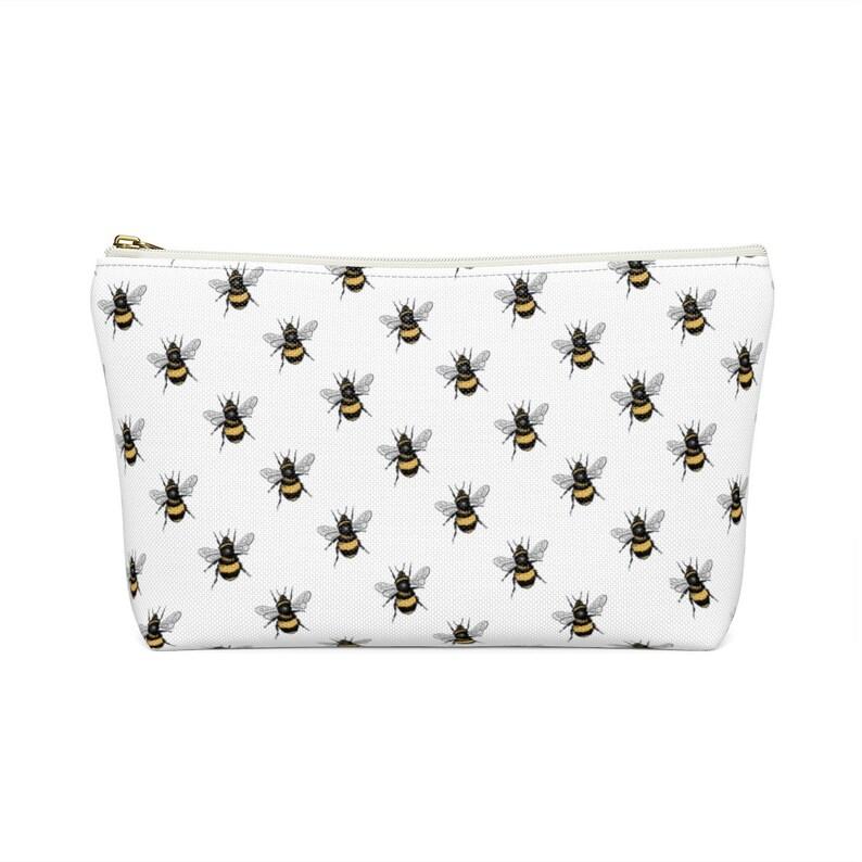 Bee Pencil Case| Honeybee Clutch Bee Makeup Bag Makeup Purse Storage T-bottom Bag Organizer