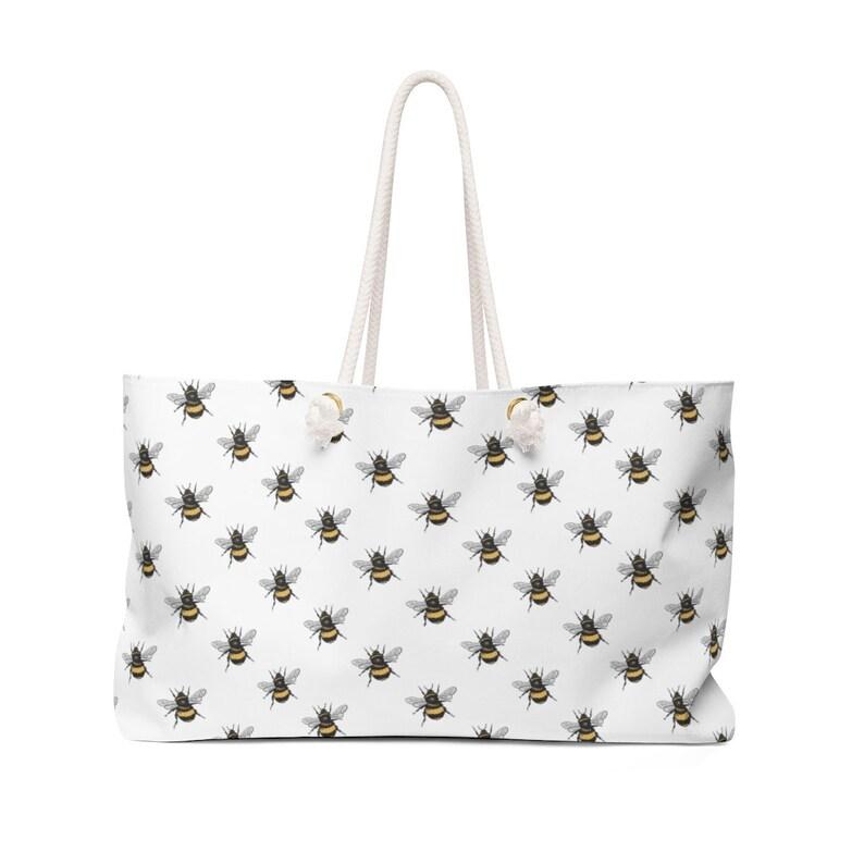 Bumble Bee Beach Bag Weekender Bag with Rope Handles