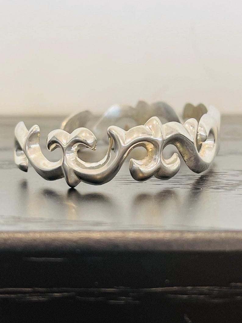 Swirl Cuff Bracelet in Sterling Silver