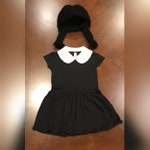 Toddler Wednesday Addams Costume Set