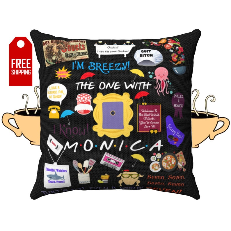 Monica Geller Friends Pillow Friends TV Show Pillow Friends TV Series Gift  Friends Theme Friends Gift Friends Quotes Decorative Friends