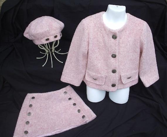 Francoise Bouthillier pink berber skirt jacket and