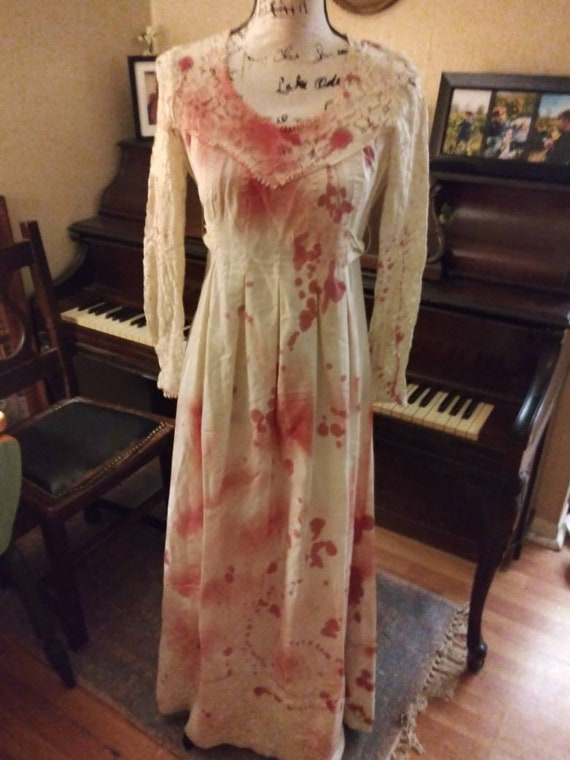 Antique Victorian Dress Blood splattered Zombie/Va