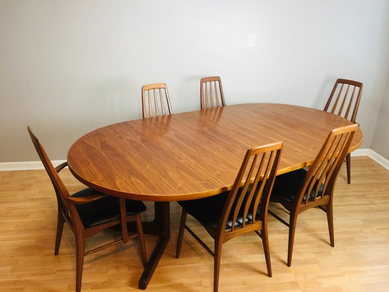 Ordinaire Mid Century Modern Danish Dining Set With 6 Koefoed Eva Chairs