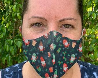 Gnome Face Mask, Kids Mask, Reusable Face mask, Cloth Face Mask, Washable mask, Adult Face mask, Womens face mask