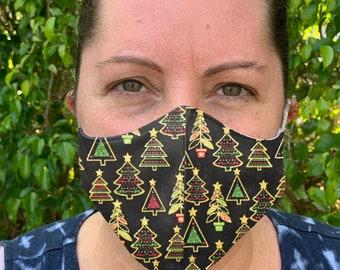 Christmas Face Mask, Kids Mask, Adjustable Face mask, Cloth Face Mask, Washable mask, Adult Face mask, Womens face mask