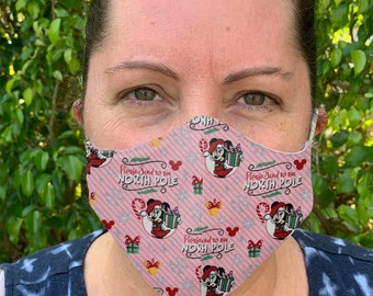 Minnie Mouse Face Mask, Kids Face Mask, Adjustable Face mask, Cloth Face Mask, Washable mask, Adult Face mask, Christmas mask