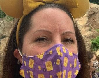 Tangled face mask, Kids Face Mask, Cloth Face mask, Cotton Face Mask, Washable mask, Adult Face mask, Adjustable face mask