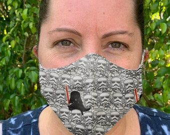 Storm Trooper  Face Mask, Womens Face Mask, Reusable Face mask, Cotton Face Mask, Washable Face mask, Adult Face mask, mens face mask
