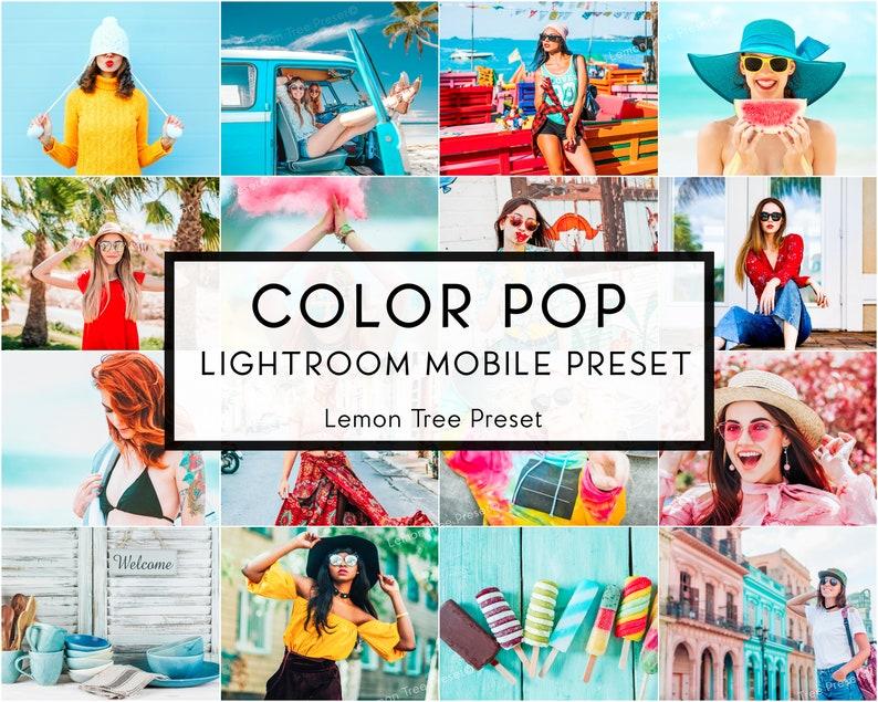 3 Mobile Lightroom Presets Color Pop Colors Vibrant Lightroom Preset  Instagram Edition for Bloggers