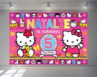 9ed6c25f4d5 Hello kitty banner | Etsy