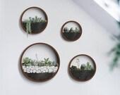 Round Hanging Planter Indoor, Wall Planter, Hanging Terrarium, Wall Vase, Wall Plant Holder,Hanging Wall Planter,Air Plants Holder Florarium