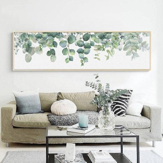 Modern Eucalyptus Wall Art Canvas for Home Decor