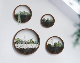 Round Hanging Planter Indoor, Wall Planter, Hanging Terrarium, Wall Vase, Wall Plant Holder, Wall Hanging Planter,Air Plant Holder Florarium