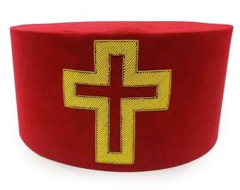 Golden Vintage Cross Knight Templar Necklace | Etsy