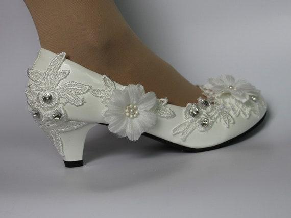 Bridal Wedding Shoes Handmade Wedding Shoes Pumps Light Ivory Etsy